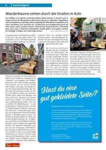 Wanderbäume ziehen durch die Straßen in Köln  01/2020, Nippes-Magazin