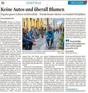 Wanderbaumallee beim Tag des guten Lebens  10/2020, Kölner Stadtanzeiger