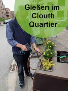 Wasser für die Bäume im Clouth Quartier